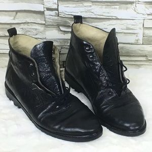 Kenneth Cole NY Leather Ankle Lace Boot Made Italy